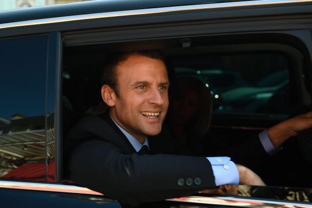 Emmanuel Macron... (Photo Eric Feferberg, Agence France-Presse)