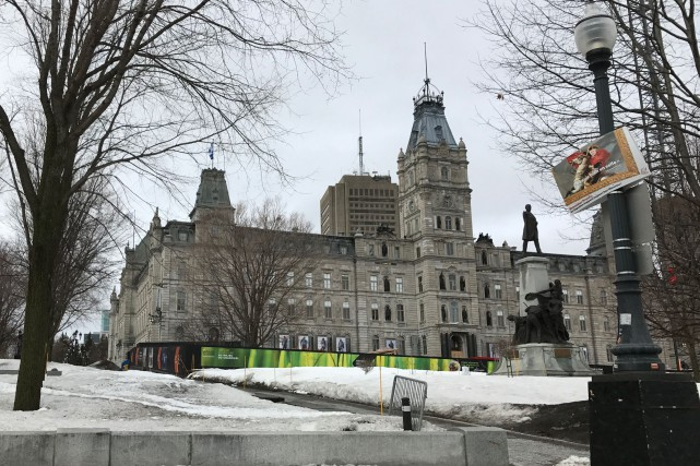 Le drapeau du Québec ne flotte plus sur... (fournie par Claude Beauchamp)