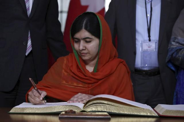 La corécipiendaire du prix Nobel de la paix... (Lars Hagberg, AFP)