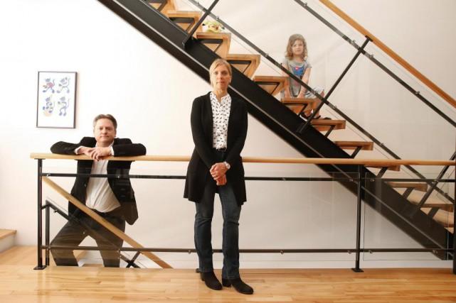 Louise Gauthier et Jean-François Paquin aiment les lignes... (PHOTO MARTIN CHAMBERLAND, LA PRESSE)