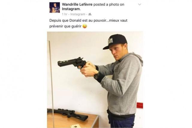L'Impact de Montréal avait suspendu Wandrille Lefèvre mercredi... (Photo tirée d'Instagram)