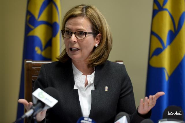 La chef de Démocratie Québec, Anne Guérette, compte... (Photothèque Le Soleil, Erick Labbé)
