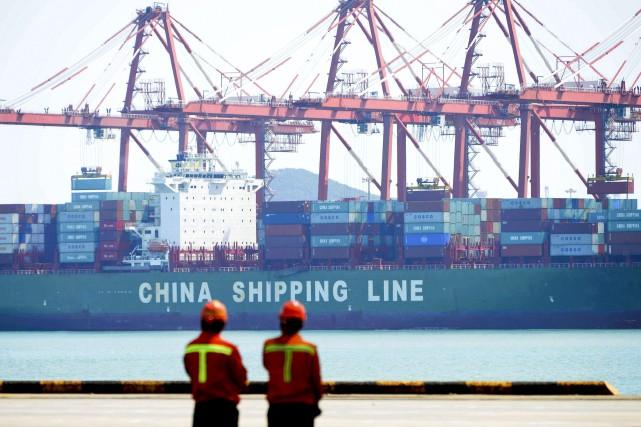 Le montant total des importations de la Chine,... (AP)