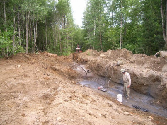 La mine de graphite de la minière junior... (Photo fournie par Minière Nouveau Monde)