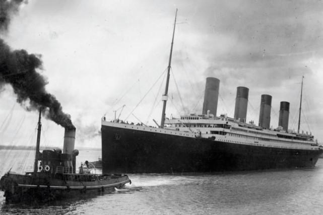 Le Titanic quitte le port de Southampton, le... (PHOTO FOURNIE PAR LE CONSEIL MUNICIPAL DE SOUTHAMPTON, ARCHIVES AGENCE FRANCE-PRESSE)