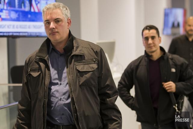 Le sergent-détective Iad Hanna (à droite) a été... (Édouard Plante-Fréchette, archives La Presse)