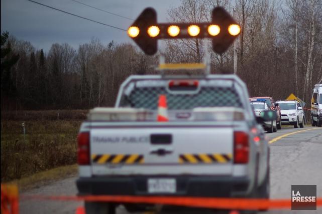 La route 161, à la hauteur de Saints-Martyrs-Canadiens dans la MRC... (Archives La Presse)