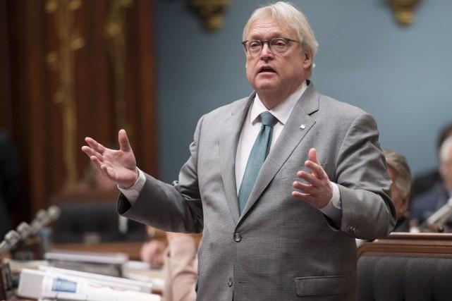 Le ministre de la Santé, Gaétan Barrette, s'est... (La Presse canadienne, Jacques Boissinot)