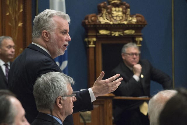 Le premier ministre du Québec et chef du... (Photo Jacques Boissinot, La Presse canadienne)