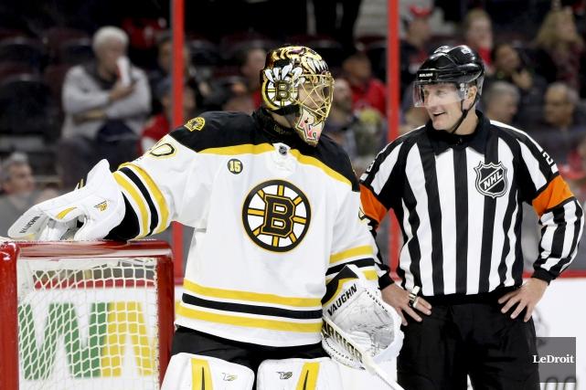 Tuukka Rask, le gardien des Bruins, a été... (Patrick Woodbury, Archives Le Droit)