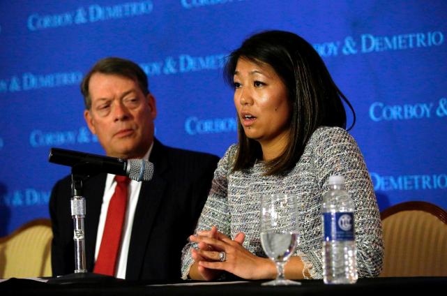 Crystal Dao Pepper, la fille du Dr David... (AFP, Joshua LOTT)