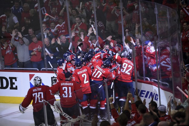 L'attaquant des Capitals Tom Wilson a mis fin... (PHOTO Molly Riley, AP)