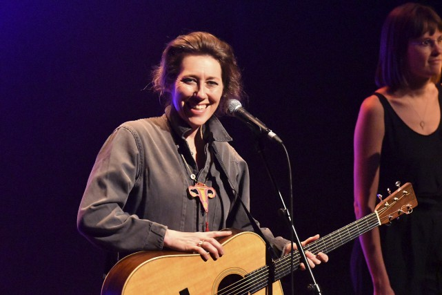 Martha Wainwright présentait jeudi soir son spectacle à... (Stéphane Lessard)