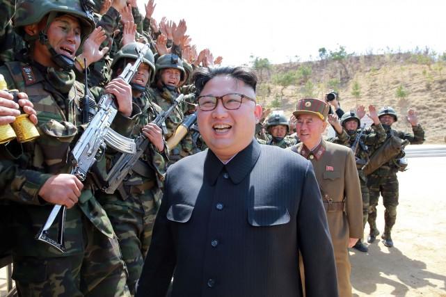 Le leader nord-coréen Kim Jong-Un... (PHOTO AFP/AGENCE KCNA)
