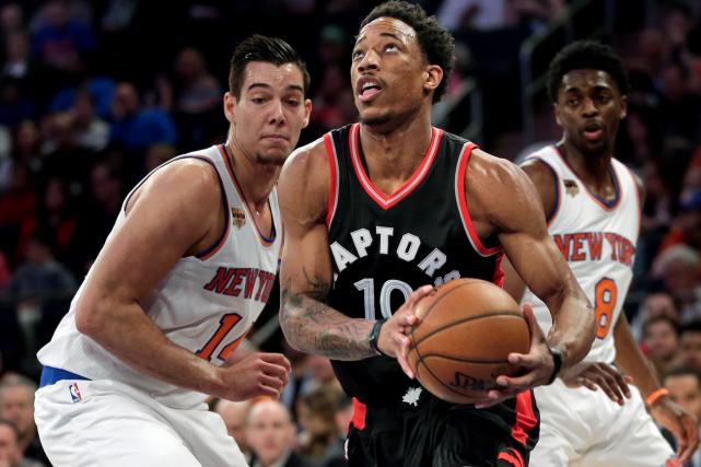 DeMar DeRozan et les Raptors de Toronto accueilleront,... (AP, Seth Wenig)
