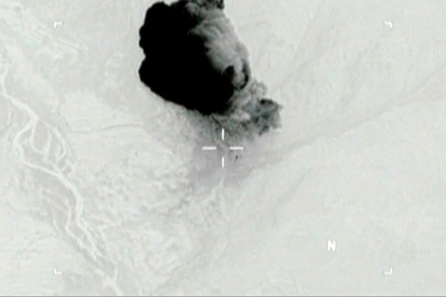 Cette image fournie par le départementde laDéfense des... (DVIDS via Reuters TV)