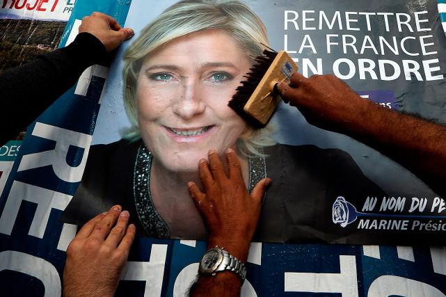 La candidate du parti d'extrême droite à la... (Eric Gaillard, REUTERS)