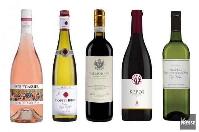La fête de Pâques est le premier long congé du printemps. Voici cinq vins pour... (PHOTOMONTAGE LA PRESSE)