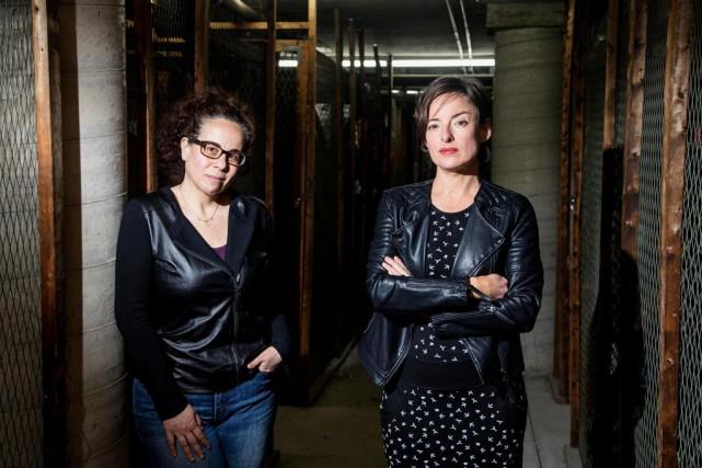 La réalisatrice Maryanne Zéhil et la comédiennePascale Bussières... (PHOTO ALAIN ROBERGE, LA PRESSE)