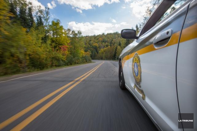 La Sûreté du Québec a capté un automobiliste qui roulait à plus de 150km/h... (Archives, La Tribune)