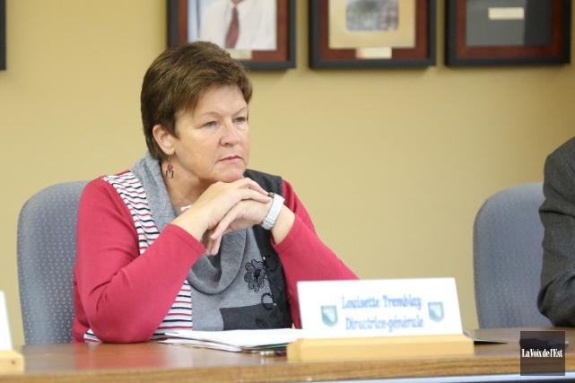 La directrice générale de Stukely-Sud, Louisette Tremblay, a... (archives La Voix de l'Est)