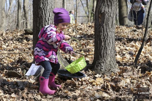La jeune Olivia Wright, 3 ans et demi,... (Patrick Woodbury, Le Droit)