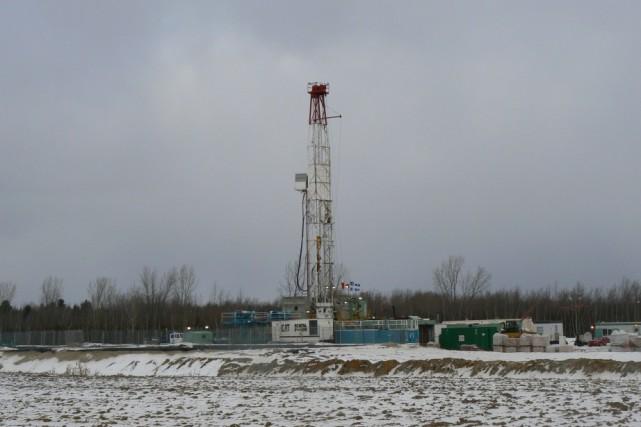 Un puits de gaz de schiste au Centre-du-Québec....