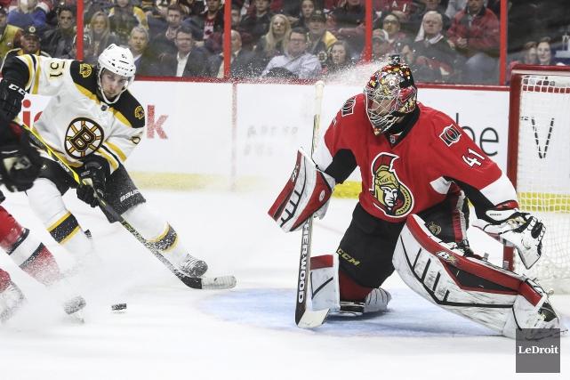 Natif d'Ottawa, l'attaquant des Bruins Ryan Spooner a... (Patrick Woodbury, Archives Le Droit)