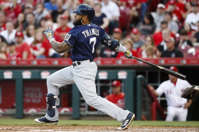 Eric Thames... (Photo John Minchillo, AP)