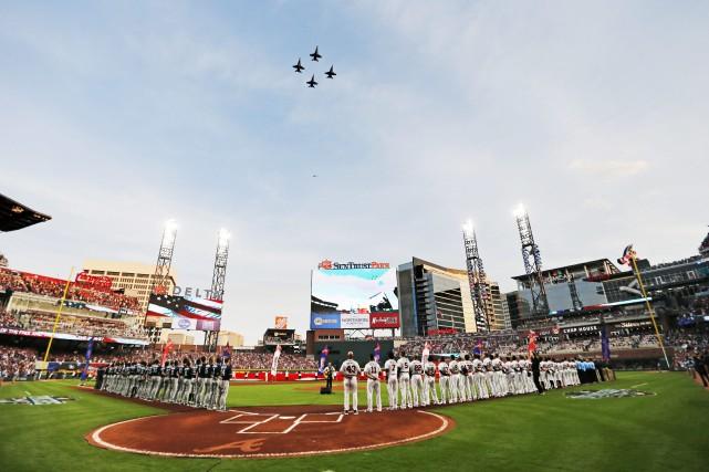Le nouveau stade des Braves d'Atlanta, le SunTrust... (Photo John Bazemore, AP)
