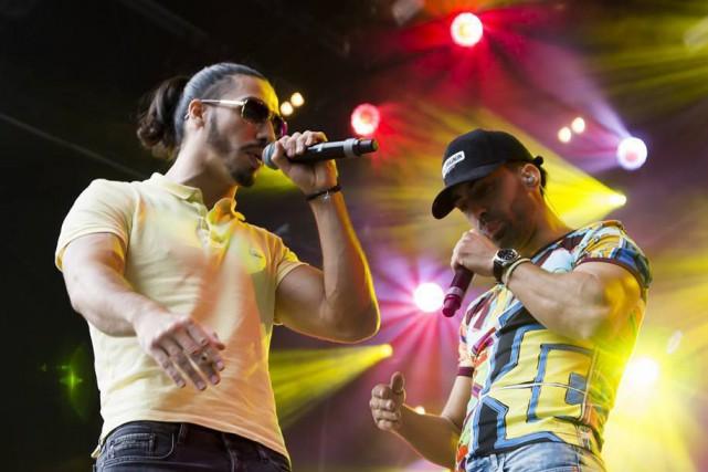 Le duo de rap francais PNL.... (Image tirée de leur page Facebook)