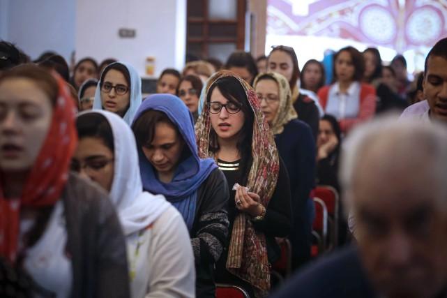 Pour les Coptes, les chrétiens d'Égypte, la fête... (Photo AFP)