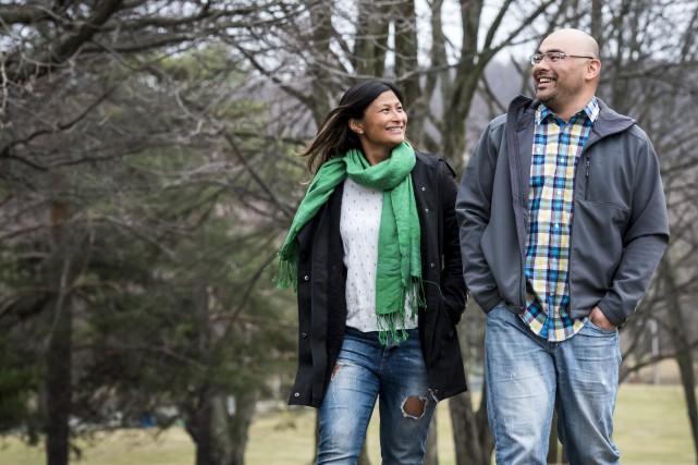 Jouhainna Lebel et Paul-André Brissette ignoraient qu'ils étaient... (Spectre Média, Jessica Garneau)