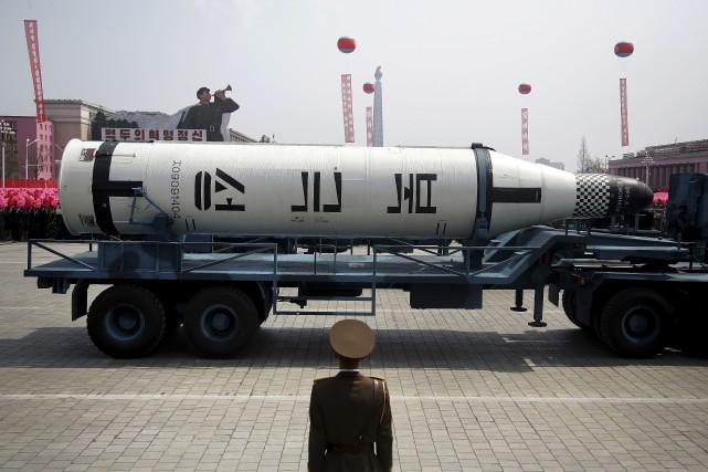La Corée du Nord a montré ses muscles... (PHOTO Wong Maye-E, AP)