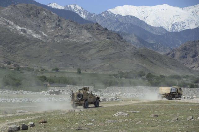 Survenue jeudi, l'explosion de la mégabombe a résonné... (AFP, Noorullah Shirzada)