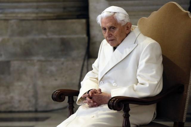 Benoît XVI, en décembre 2015.... (Photo Gregorio Borgia, archives Associated Press)