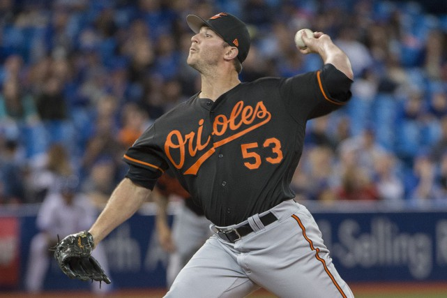 Zach Britton a ressenti de la douleur vendredi,... (Photo Nick Turchiaro, USA TODAY Sports)