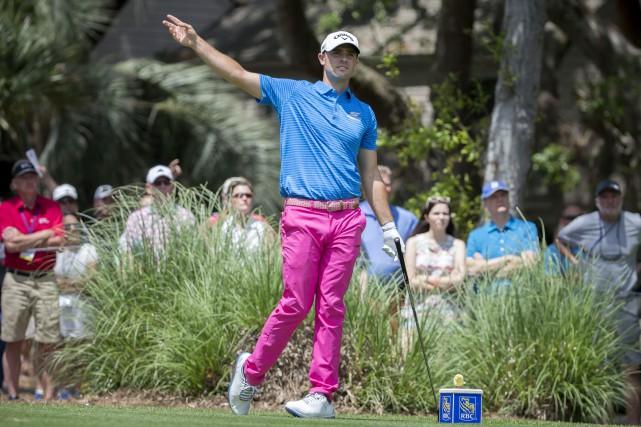 Wesley Bryan, le gagnant du tournoi, a joué... (Photo Stephen B. Morton, AP)