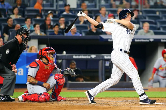 Greg Bird a claqué un circuit en plus... (Photo Andy Marlin, USA TODAY Sports)