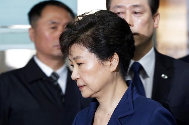 Fille de l'ancien dictateur Park Chung-Heen, Park Geun-Hyeest... (Photo Ahn Young-joon, ARCHIVES AGENCE FRANCE-PRESSE)