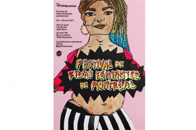 Affiche du Festival de films féministes de Montréal.... (image tirée de la page facebook du festival)