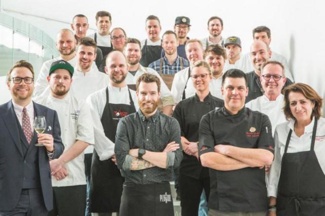 Les 22 chefs qui participent au festival Québec... (PHOTO ANDRÉ-OLIVIER LYRA, FOURNIE PAR QUÉBEC EXQUIS)