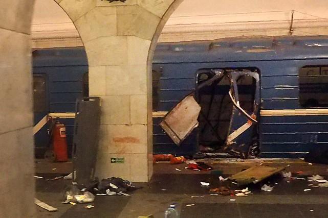 L'attentat dans le métro de Saint-Pétersbourg le 3avril... (Archives AFP)