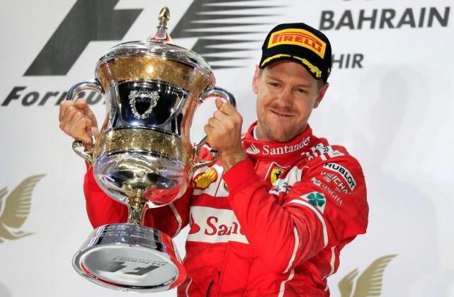 Sebastian Vettel (Ferrari), gagnant du Grand Prix de... (Photo Hassan Ammar, Associated Press)