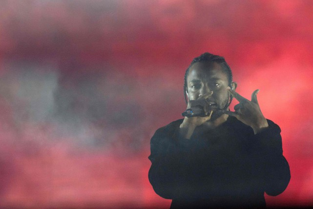 Kendrick Lamar... (Photo Valerie Macon, Agence France-Presse)