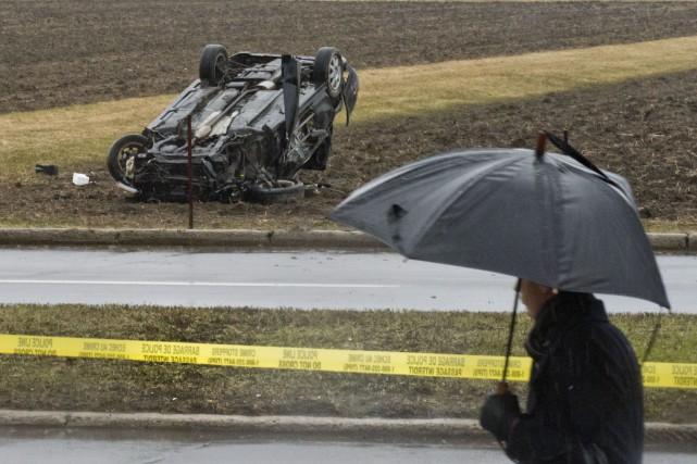L'accident mortel est survenu vers 14 h 30... (Martin Roy, Le Droit)