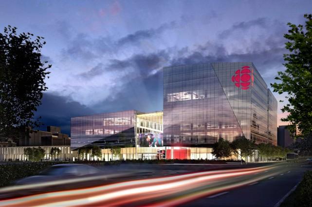 Le nouvel édifice sera situé à l'angle du... (Image de la future Maison Radio-Canada, fournie par Radio-Canada)