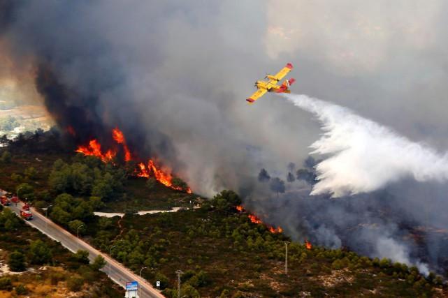 Les incendies de forêt sont en général plus... (Archives, Agence France Presse)