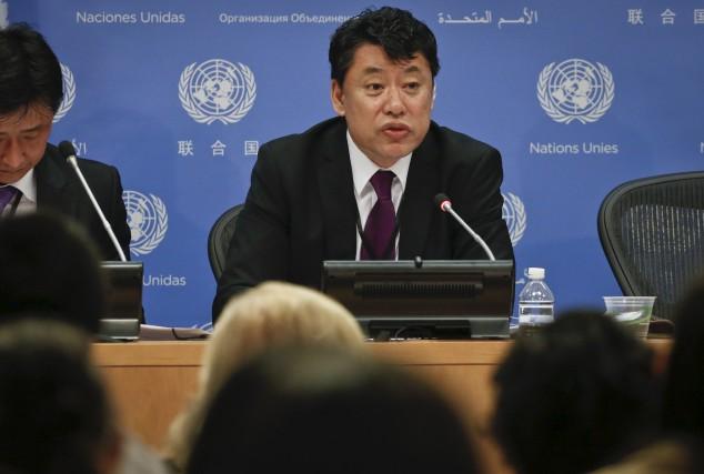 L'émissaire dePyongyang auxNations unies, Kim In Ryong a... (AP, Bebeto Matthews)