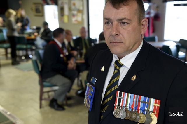 Claude Racine, l'actuel président local de la Légion... (Le Soleil, Yan Doublet)